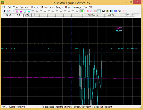 FocusOscillograph359 screenshot of uart 115200